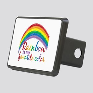 Rainbow Favorite Color Rectangular Hitch Cover